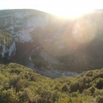 Spectacular view into Gorge d'Ardeche